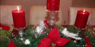 Tavola di Natale centrotavola