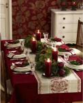 Tavola shabby rossa per Natale