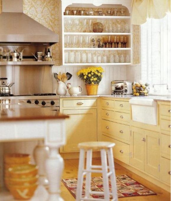 Colore Pareti Cucina Gialla : Cucina gialla e grigio with