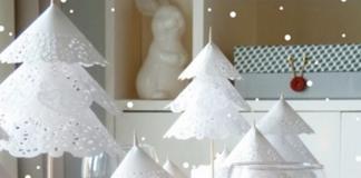 Natale shabby abeti bianchi