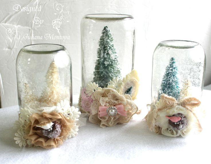 Sfere Di Neve Per Un Natale Shabby Il Riciclo Creativo Per Le Feste