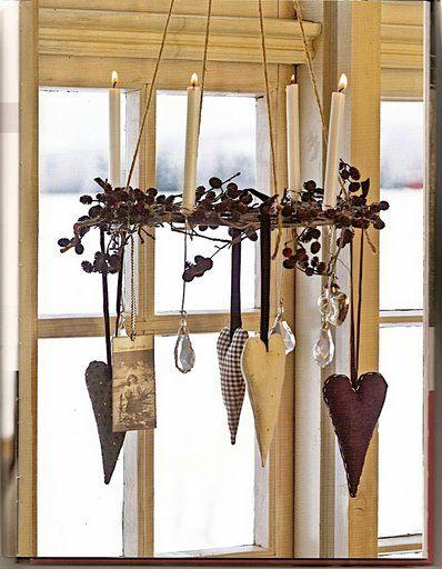 Idee per decorare le finestre in stile shabby a natale - Finestre decorate per natale ...