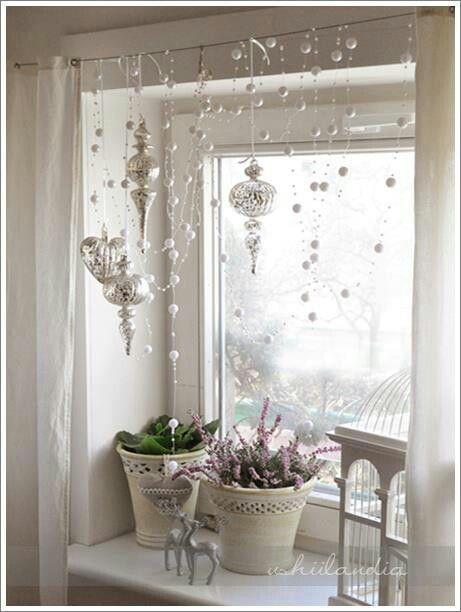 Ben noto Idee per decorare le finestre in stile Shabby a Natale AP04