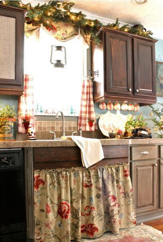Addobbi natalizi cucina | Oliovite