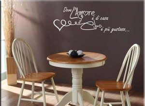 adesivo murale frase amore cucina 300x230