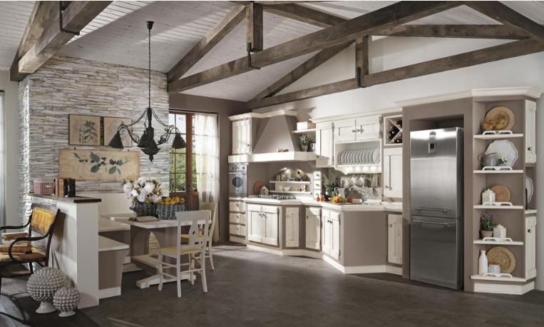 Tutta la collezione delle cucine borgo antico del gruppo lube for Bianco e dintorni arredamento provenzale