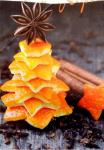 arance addobbi natalizi con le bucce