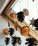 arance addobbi natalizi per le finestre