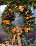 arance addobbi natalizi per ghirlanda