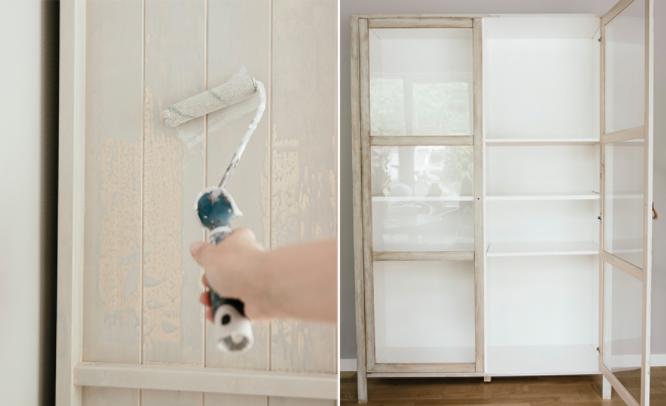 Credenza A Vetri Ikea : Come trasformare la credenza björknäs dell ikea in stile shabby foto