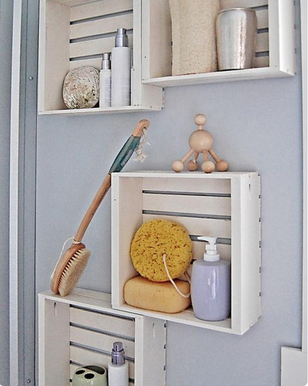 Come addobbare casa con l 39 arredamento con bancali e cassette - Costruire bagno ...