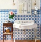 Bagni provenzali piastrelle: blu