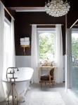 Bagno design e lampadario