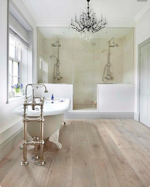 Come creare con arredi e complementi shabby la magia anche - Colori bagno moderno ...