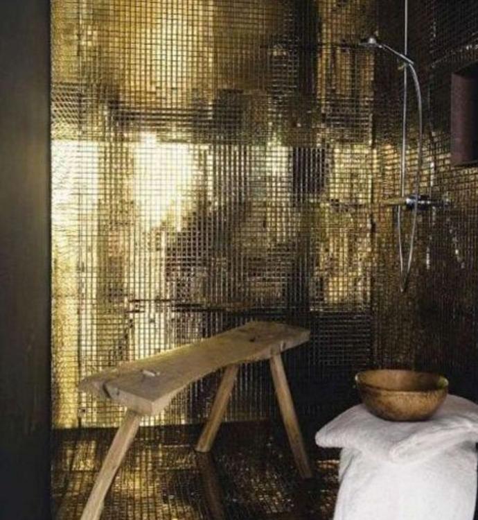 il bagno moderno con il mosaico potrebbe essere un'ottima soluzione - Bagni Con Mosaico Moderni