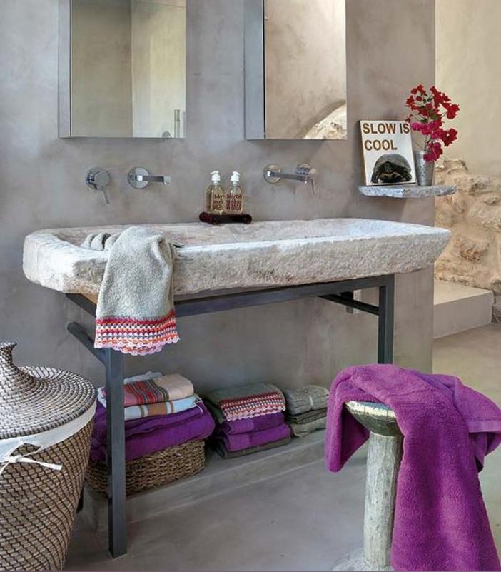 Il bagno in pietra naturale potrebbe essere la giusta soluzione - Lavandino in pietra bagno ...