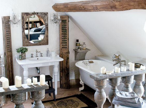 Vasca Da Bagno Vintage Usata : Come arredare un piccolo bagno in stile shabby consigli e foto