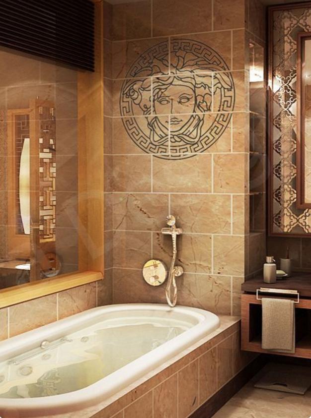 Dalle foto del bagno Versace troverai la tua ispirazione