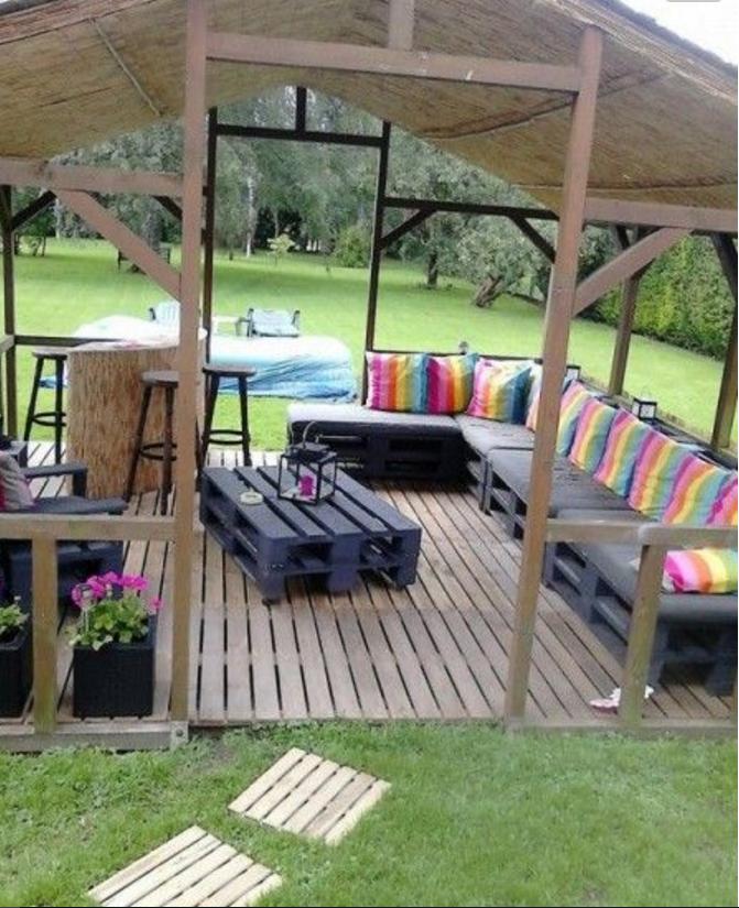 con i bancali l 39 arredamento in giardino sar solo shabby ForArredamento Da Giardino Con Bancali