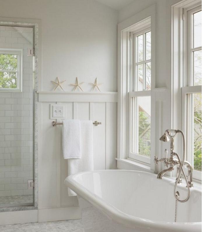 Scegli la boiserie in legno bianco per la tua casa in stile shabby - Boiserie in legno per bagno ...
