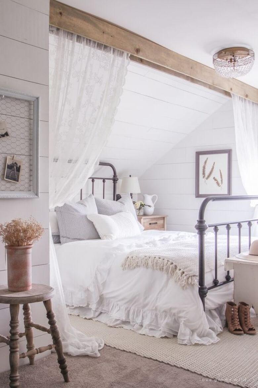 Conosciuto 21 modi per arredare la camera da letto in stile shabby (FOTO) UI62