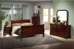 Camera da letto classica in noce bombata