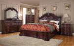 Camera da letto classica in noce con intarsi