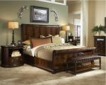 Camera da letto classica in noce con venatura