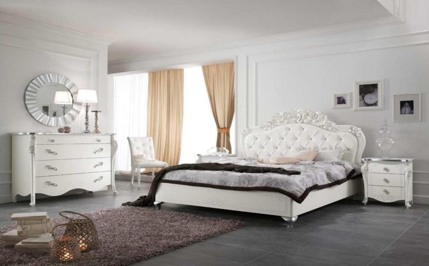 La camera da letto classica contemporanea del salone del - Decori camera da letto ...