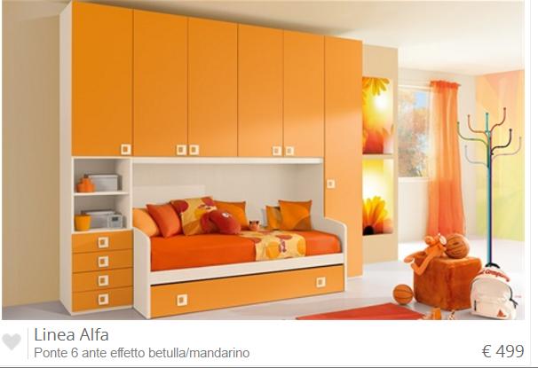Cameretta Arancione Mondo Convenienza : La nuovissima collezione delle camerette mondo convenienza foto