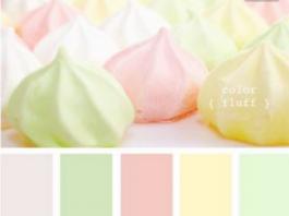 Cartella colori pareti: Pastello