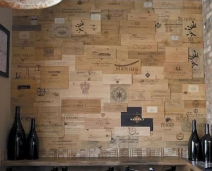 Con le cassette di legno del vino rivoluzioni la tua casa
