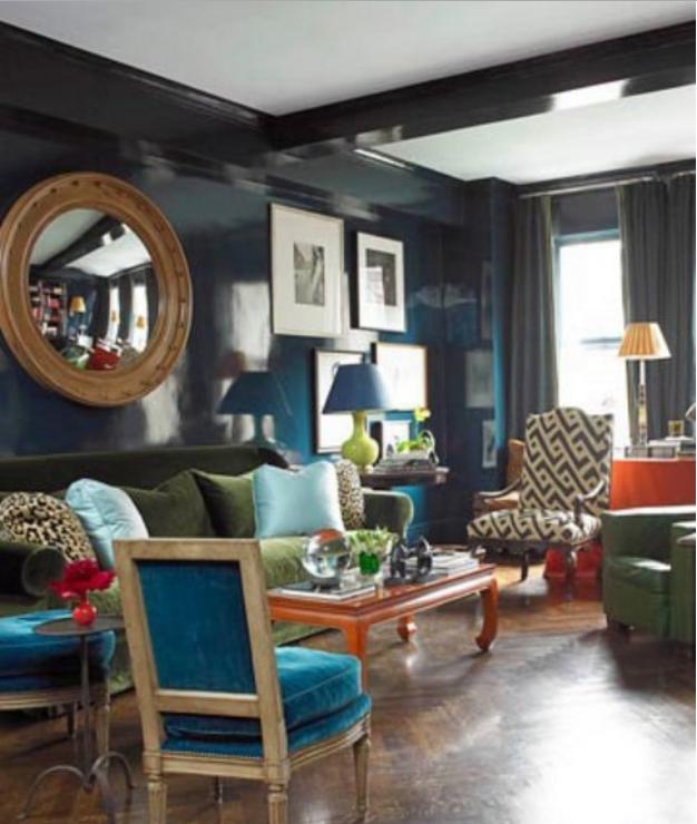 Anche in una casa shabby starebbe benissimo il color for Color ottanio