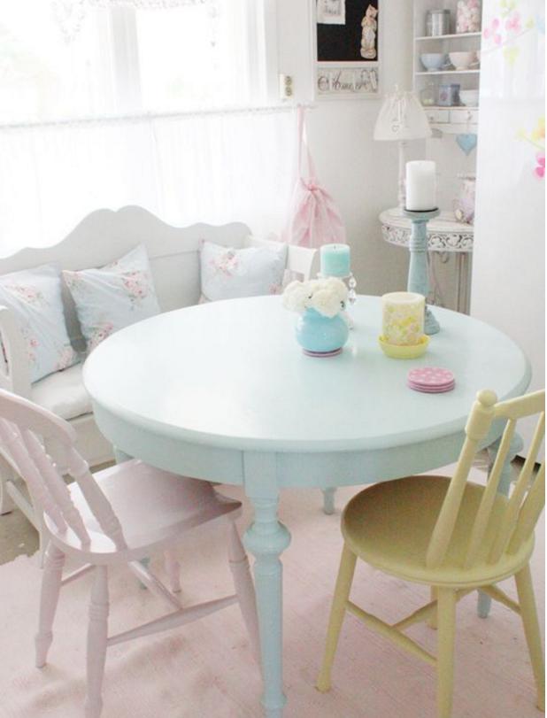 come arredare casa con i colori pastello in stile shabby - Arredamento Colori Pastello