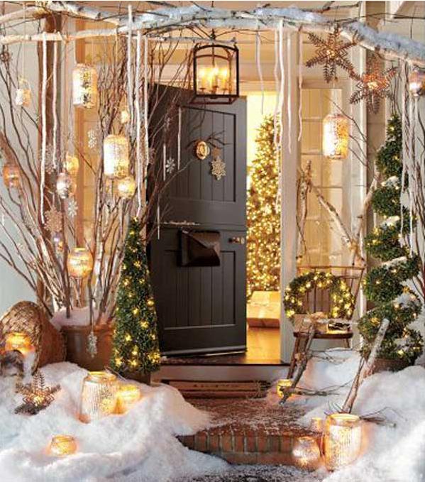 Come addobbare le porte per natale in stile shabby - Decorare lanterne ...