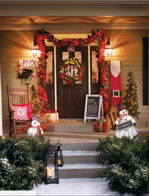 Decorazioni Natalizie Per Portoni.Come Addobbare Le Porte Per Natale In Stile Shabby