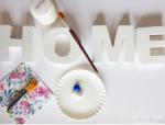come decorare le lettere di legno secondo step
