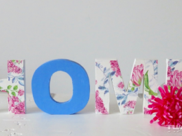 come decorare lettere legno