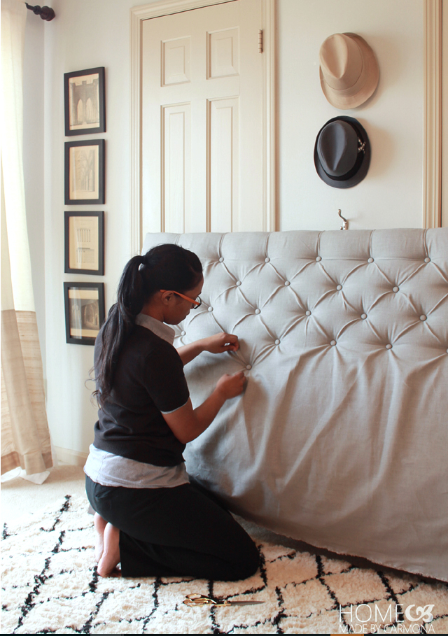 Come realizzare una testata del letto imbottita fai da te foto - Creare testata letto ...