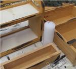 come realizzare una credenza in legno cera
