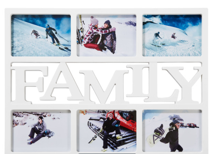 cornice portafoto scritta family lidl