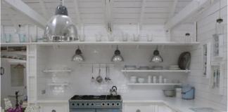 Cottage total white: angolo cottura