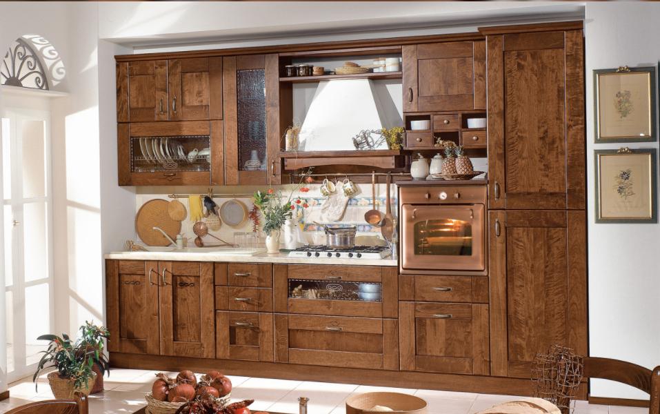 Le foto e i prezzi delle cucine mondo convenienza in stile shabby chic - Mercatone uno mobili arte povera ...