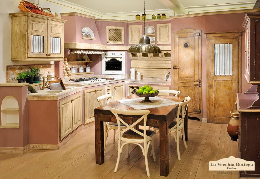 Cucine in muratura country e vintage ti presentiamo l 39 azienda l 39 artigiano arredamenti - Cucine legno grezzo ...