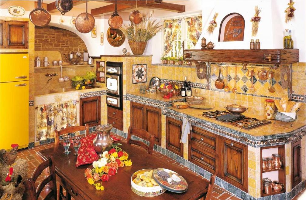 Cucine rustiche su misura del\'azienda Fonte del Rsutico