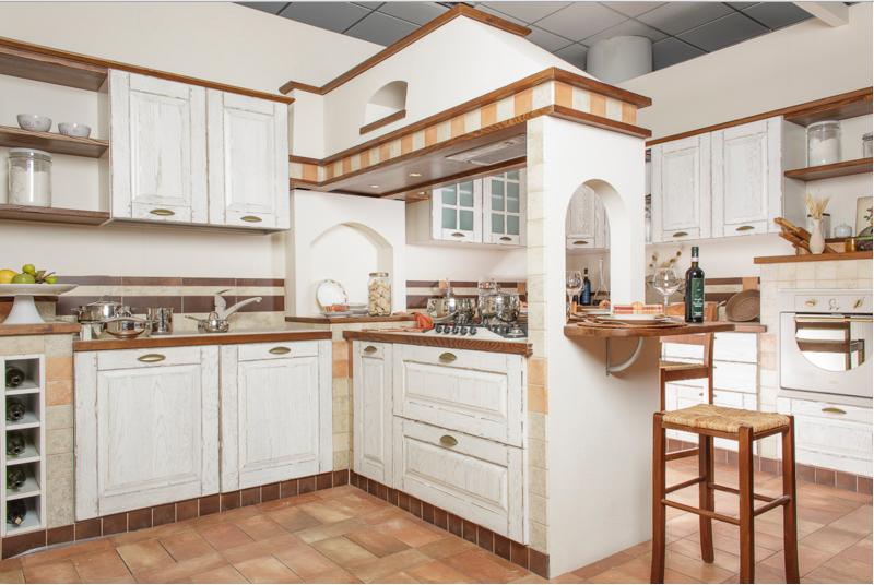 Comida arredamenti ti presenta la sua linea di cucine rustiche - Cucina country bianca ...