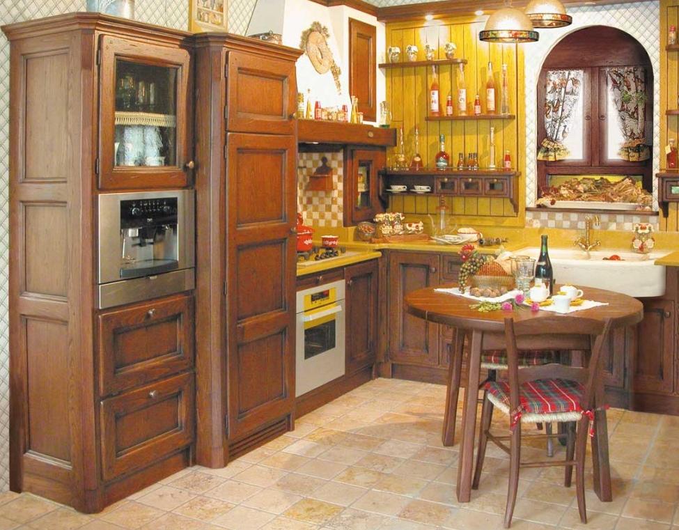 Cucine rustiche su misura del 39 azienda fonte del rsutico - Colori per cucina piccola ...