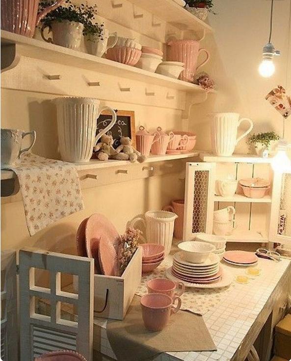 Le immagini più belle della cucina shabby chic interiors