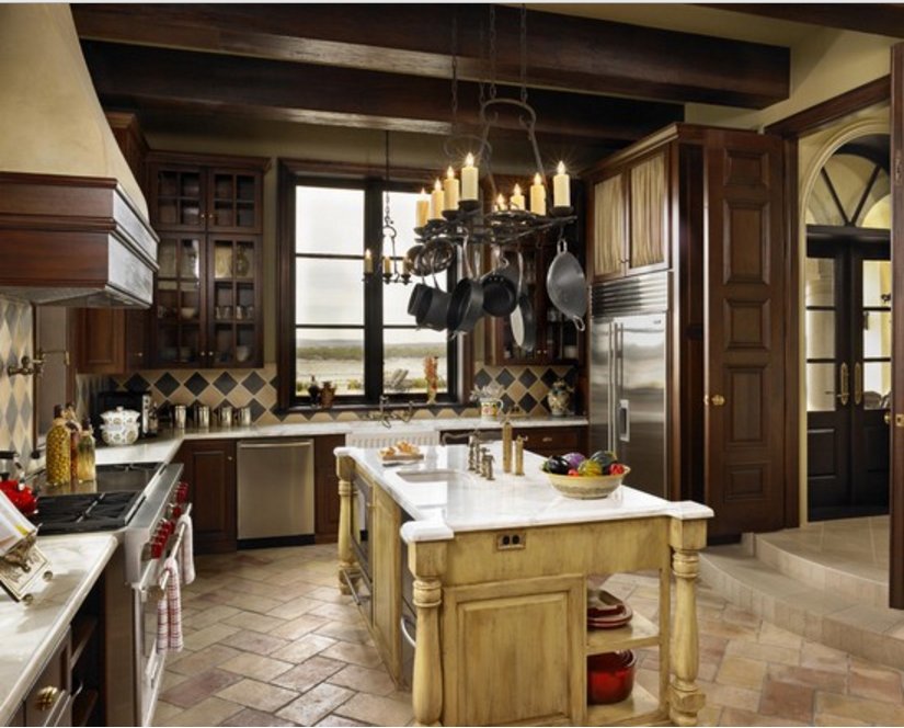 Cucina a vista con isola che idea geniale per lo stile shabby - Cucina legno chiaro ...