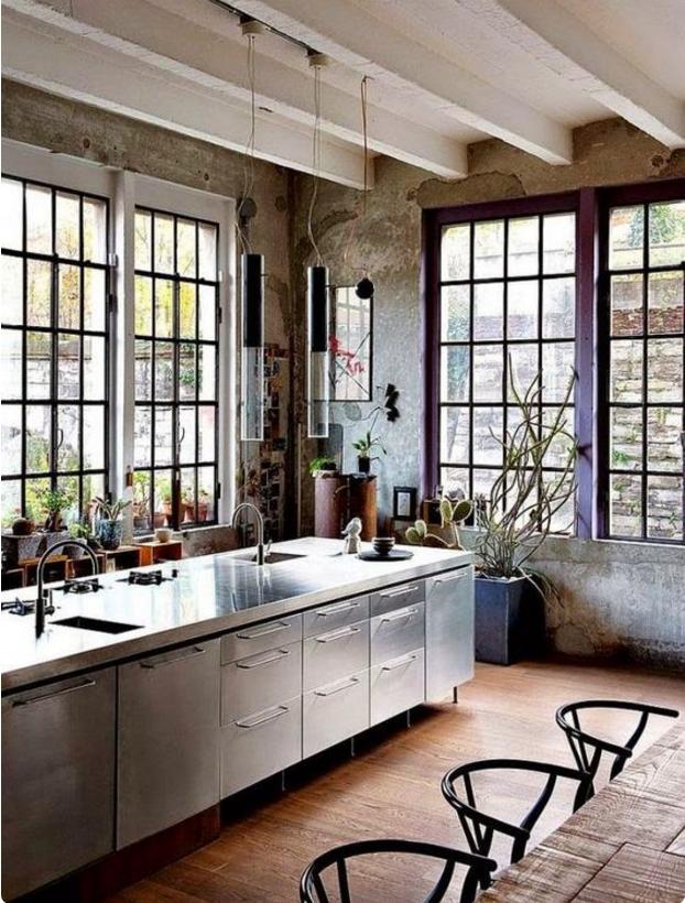 Arreda la tua casa con le cucine stile industrial chic for Arredamento industrial chic
